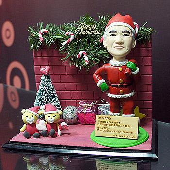 聖誕老人公仔場景組(含防塵框)